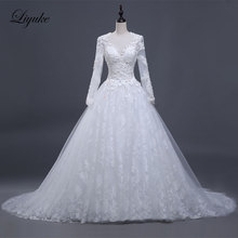 Wedding Dress Full Sleeves Ball Gown Bride Dress Liyuke
