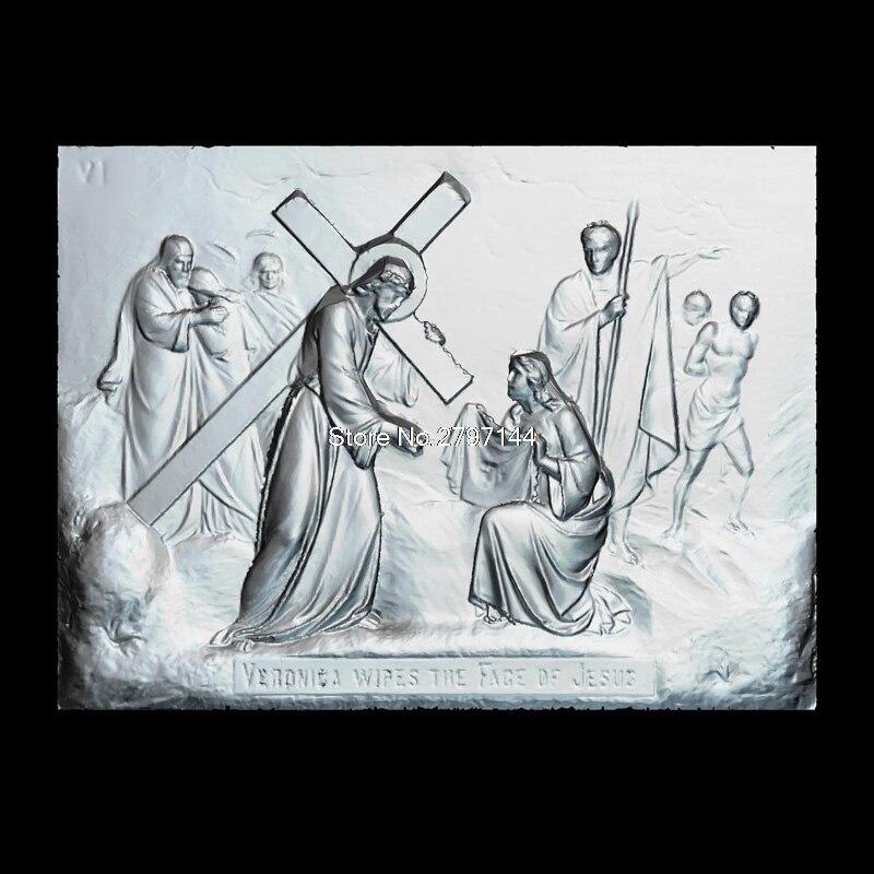 Kreuzigung Jesus_1 3d modell für cnc STL-format Religion 3d Relief Modell STL Router 3 achsen Engraver ArtCam