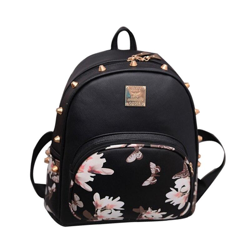 flor impressão mochila para adolescente Tipo de Estampa : Floral