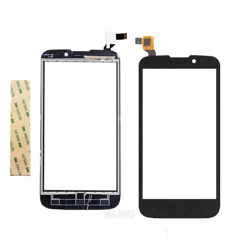 NEW Touch Panel For Fly IQ4502 Qud ERA Energy 1 IQ 4502 Touch Screen Digitizer Replacement Black Color +Tape
