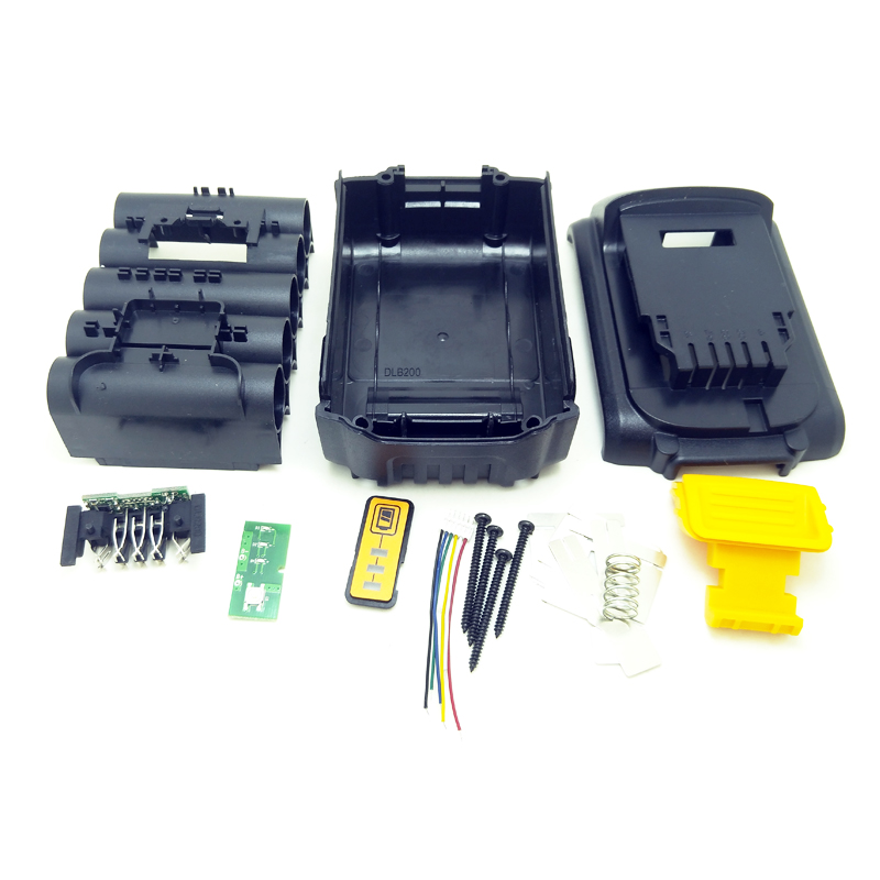 DCB200 батарея пластиковый чехол (без батареи) Замена для Dewalt 18V 20V 3.0Ah 4.0Ah DCB200 литий-ионный аккумулятор