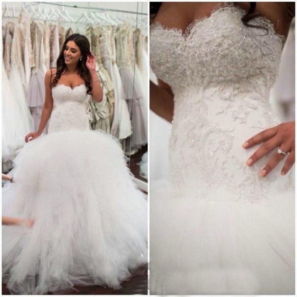 Backless Vestido De Noiva 2019 Muslim Wedding Dresses Mermaid Sweetheart Tulle Lace Beaded Boho Dubai Arabic Wedding Gown Bridal