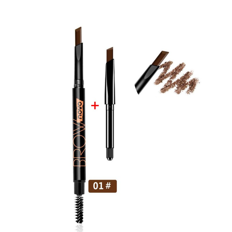 1PC Double head Eyebrow Enhancer automatic rotation waterproof non staining meimei plastic eyebrow pencil replacement in Eyebrow Enhancers from Beauty Health