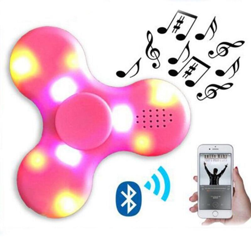 Hot Sale Hand Spinner LED Light Mini Bluetooth Speaker Tri Spinner Anti Stress Speaker