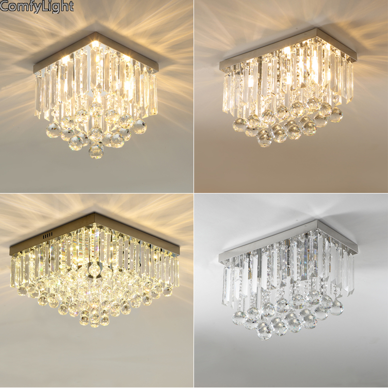Crystal LED Ceiling light Fixture Indoor Lamp lamparas de techo Bedroom Dining Room Lustre Luminaria kristal design Ceiling Lamp