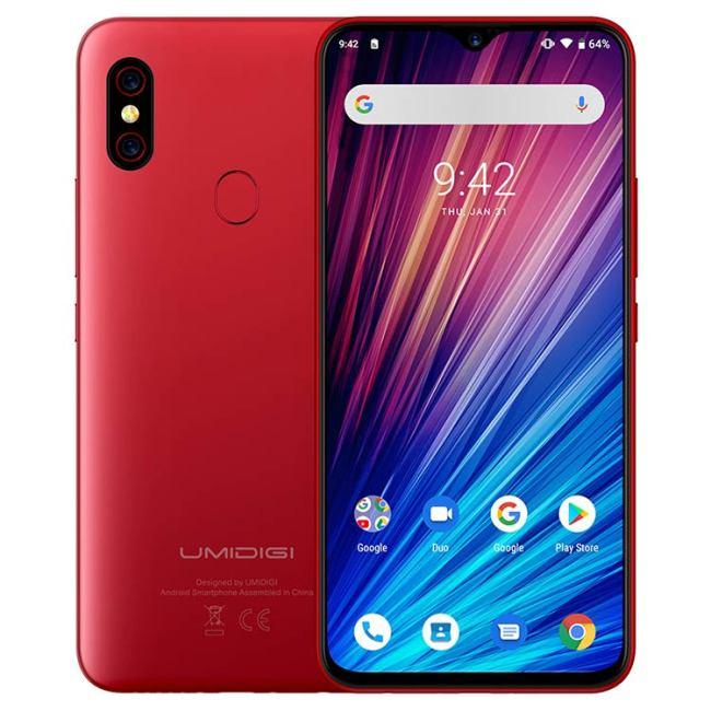 UMIDIGI F1 PLAY 4G Smartphone 6 GB RAM 64 GB ROM Helio P60 MTK6771 2.0 GHz Octa Core 6.3 pouces Waterdrop FHD + plein écran Android 9.0