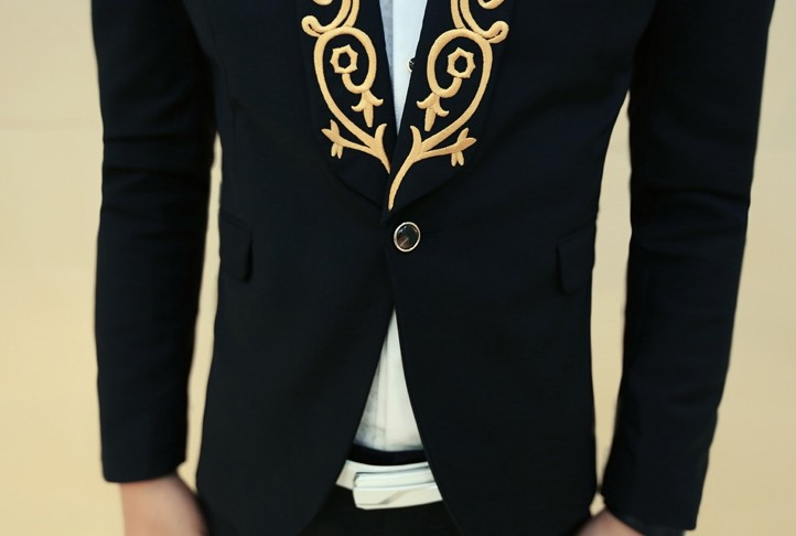 white blazer men Picture - More Detailed Picture about 2016 Gold ...
