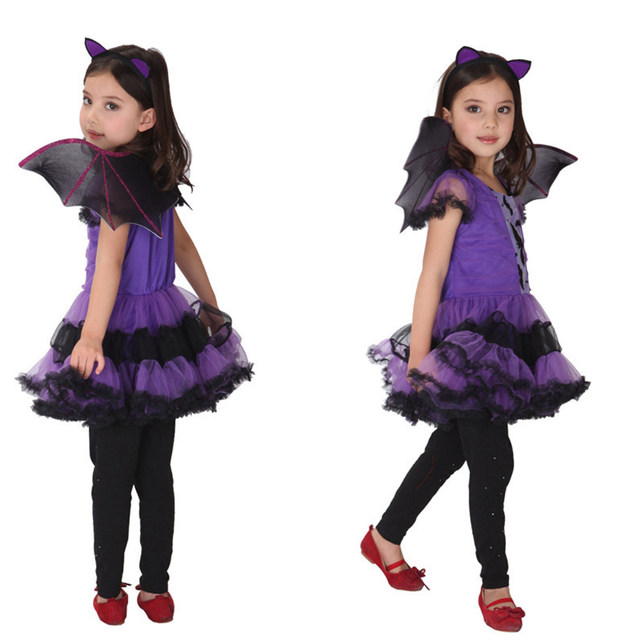 Helloween Costumes New Baby Girls Batman Costume Dresses With Wings Spandex Purple Children Kids Cosplay Wings Batman Clot Style  sc 1 st  Aliexpress & Online Shop Helloween Costumes New Baby Girls Batman Costume Dresses ...
