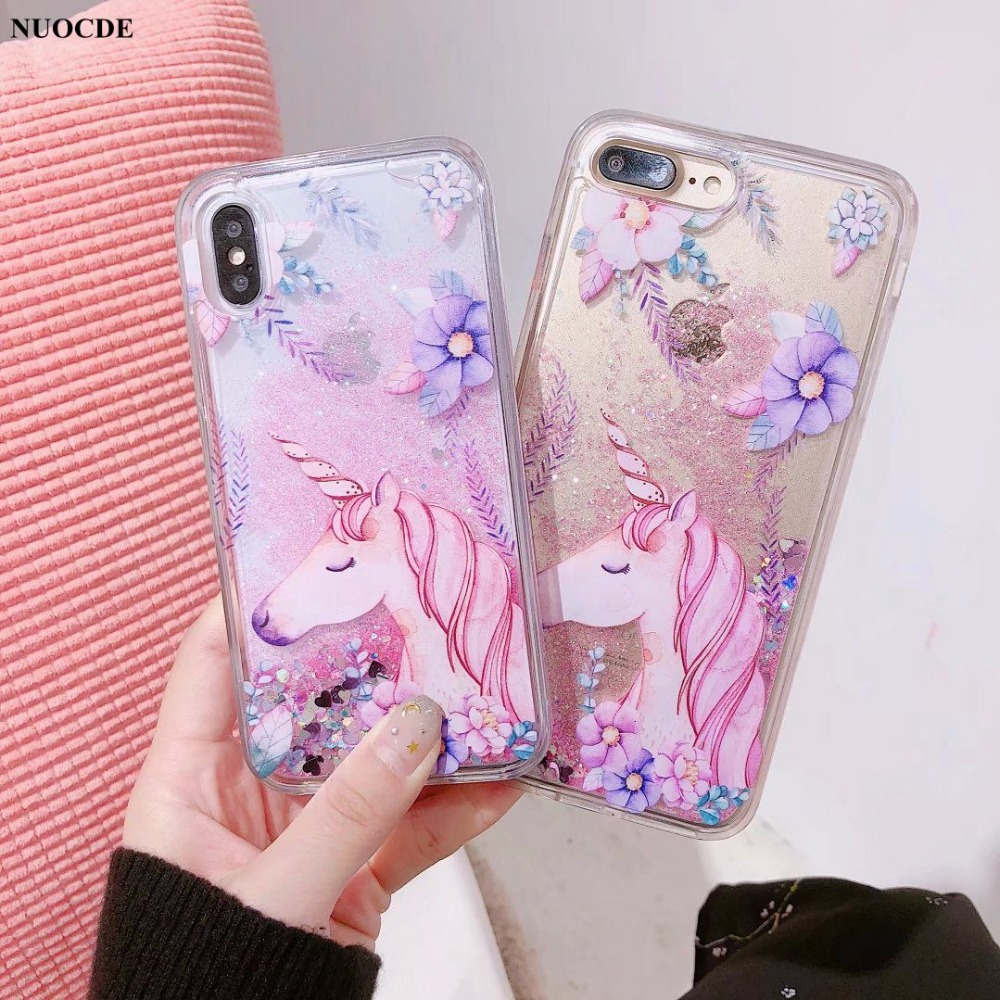 Aliexpress.com : Buy NUOCDE Cute Cartoon Unicorn Phone Case For iPhone 7 7plus 6 6s plus 8 8plus