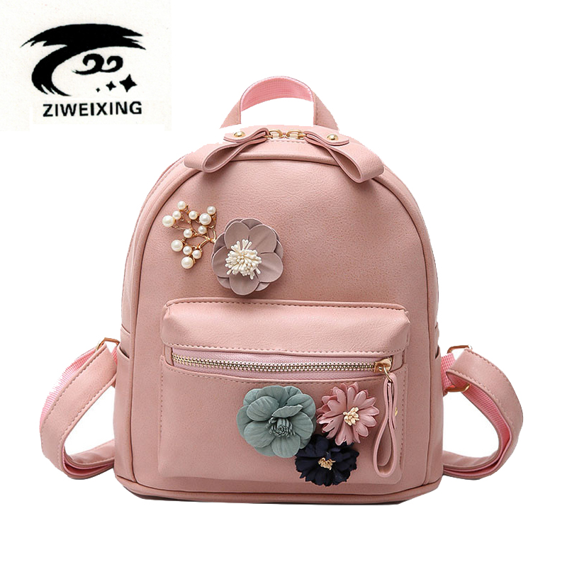 Colorful Flower Women Small Backpack Fashion Beaded ...