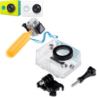 Original Xiaomi Yi Camera Waterproof Case Box Mi Yi 40 Diving W Floaty Bobber Monopod For