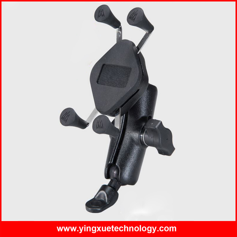 <font><b>Scooter</b></font> Rear View Mirror Aluminum Mount Cell <font><b>Phone</b></font> <font><b>Holder</b></font> Stand with Rubber Band for 5.6-6.8 Inch Screen Smart <font><b>Phones</b></font>