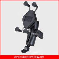 Scooter Rétroviseur Miroir En Aluminium Support de Téléphone portable Stand avec une Bande Élastique pour 5.6-6.8 Pouce Écran Intelligent téléphones