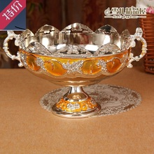 The garbage bowl of European high-grade fruit plate glue gilded Hotel KTV Home Furnishing desktop peel peel cup bowl