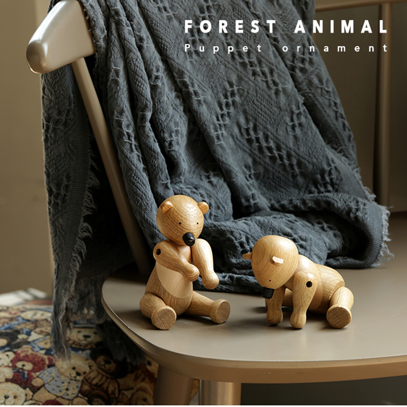 wooden bear ornaments with gift box for smart Home Decor puppets display jewelry accessories shop luxury happy birthday crafts-in Figurines & Miniatures from Home & Garden on Aliexpress.com | Alibaba Group