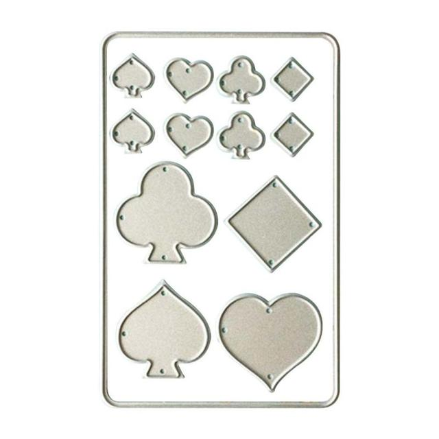 Creative playing card shape metal cutting dies diy scrapbooking creative playing card shape metal cutting dies diy scrapbooking paper cards template cut dies decorative embossing pronofoot35fo Choice Image