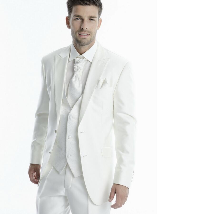 Custom Tuxedo Men's Wedding Dress Suits Prom Suits Formal Business Suits (Jacket+Pants+Vest+Tie)three-piece