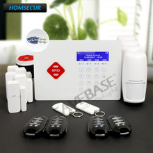 HOMSECUR Wireless GSM LCD Home Security App Controlled Alarm System Shipping from RU Warehouse with Friendly Menu