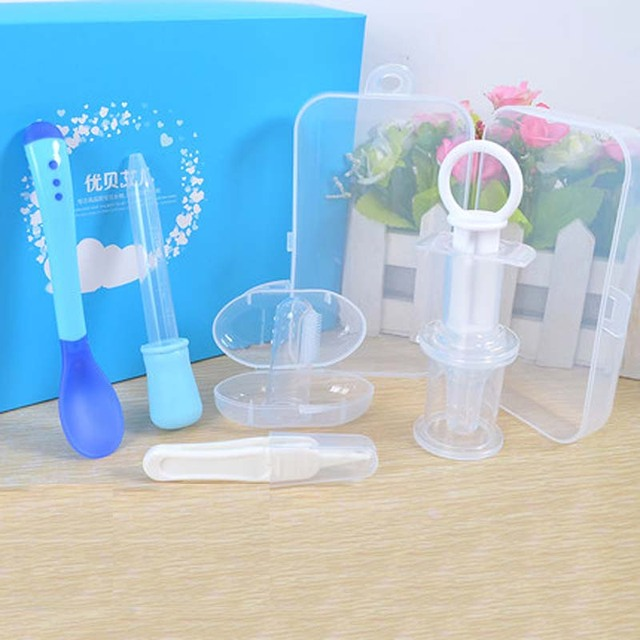 Healthcare Medical Kit Baby Care Newborn Grooming Set Feed Drug Nasal Absorption Apparatus Dropper Measuring Cups