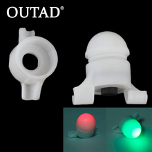 2 in 1 LED Night Fishing Rod Tip Clip on Fish Strike Bite Alert Alarm Light free shipping new strike alert night fishing led rod tip clip on fish bite alarm llight electronic fishing accessories with rod adapter