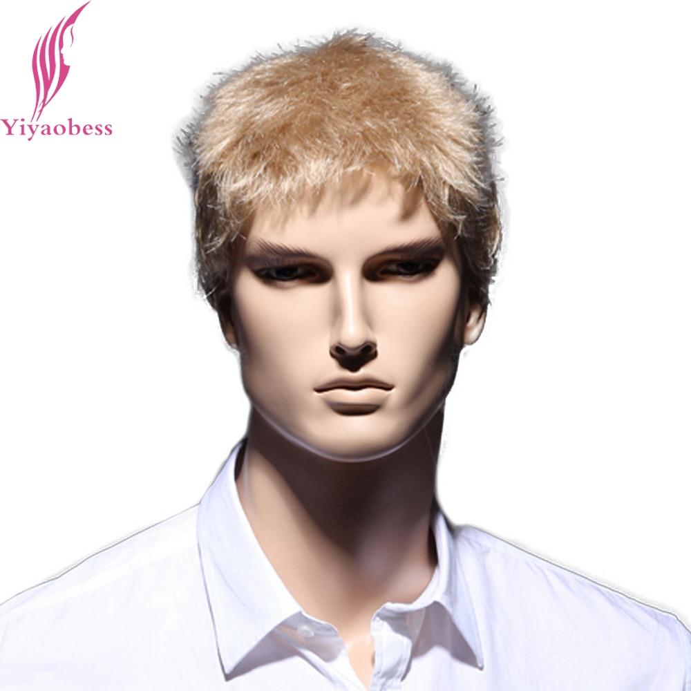 Yiyaobess 6 ιντσών ευθεία ξανθιά σύντομη - Συνθετικά μαλλιά - Φωτογραφία 2