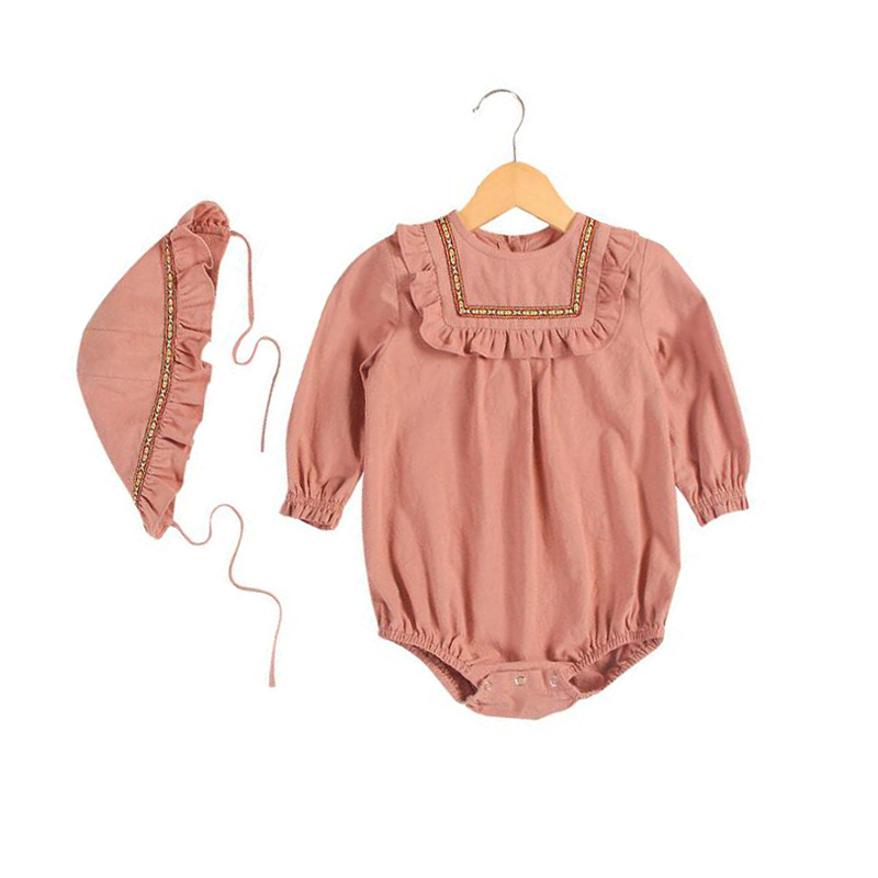 New 2018 Baby Girls Princess Rompers Toddler Girl Long Sleeve Kids Jumpsuit Newborn Baby Spring Autumn Clothes Set Infant Romper fashion 2pcs set newborn baby girls jumpsuit toddler girls flower pattern outfit clothes romper bodysuit pants