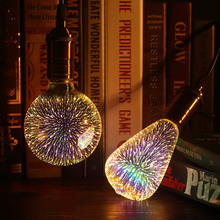 Led Light Bulb 3D Decoration Bulb E27 4W 220-240V ST64 G95 G80 G125 A60