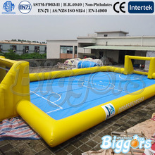 Inflatable Biggors PVC Inflatable Water Football Field Inflatable Soapy Football Field Sport Games Shipping by Sea