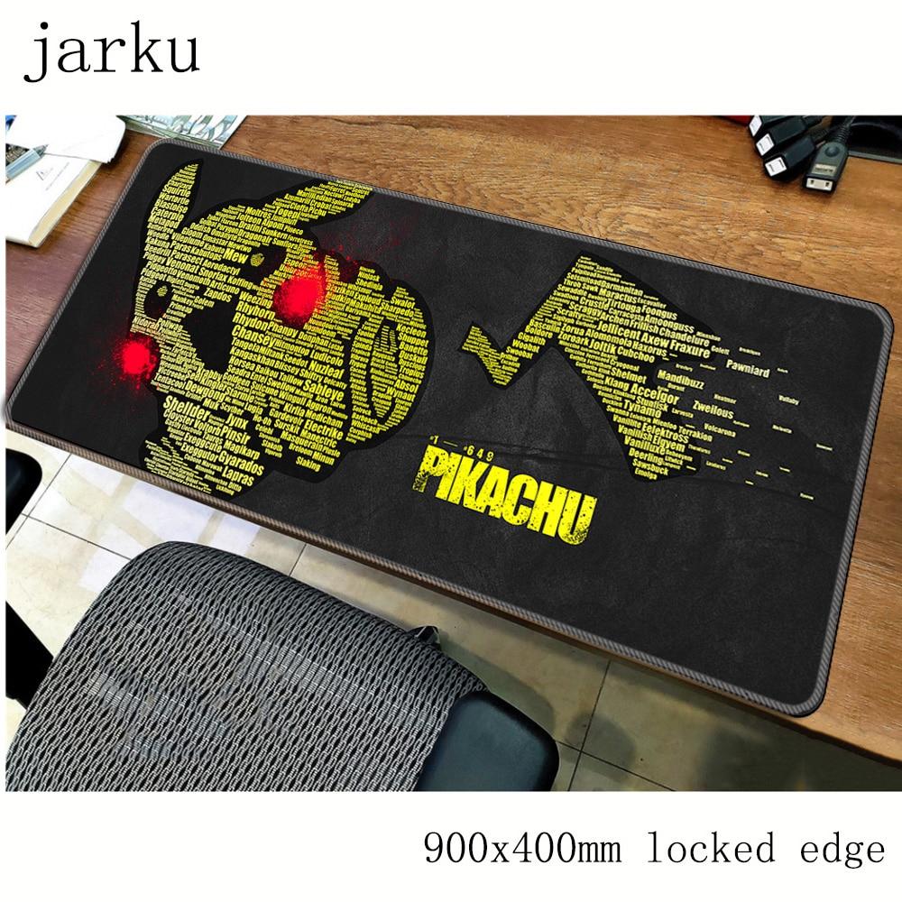 Pokemons pad mouse de computador gamer mause pad 900x400X2MM padmouse mousepad ergonômico gadget grande Presente Do Menino esteiras de mesa de escritório