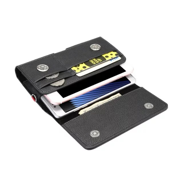 Horizontal Man Strap Belt Clip Dual Mobile <font><b>Phone</b></font> Leather <font><b>Case</b></font> Card Pouch For Motorola Moto Z <font><b>Play</b></font>,Moto Z <font><b>Play</b></font> <font><b>Droid</b></font>,LeEco Le 2s
