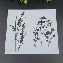 1pcs/lot Long flower Layering Stencils for DIY Scrapbooking/photo album Decorative Embossing DIY Paper Cards Crafts
