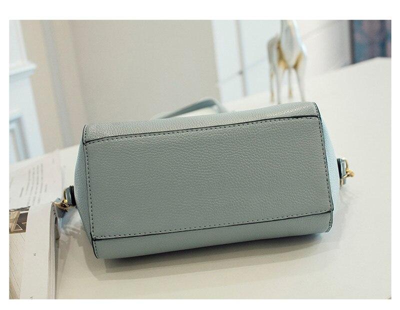 Trendy Japanese and Korean simple shell bag Fashion matches everything female bag small bag single shoulder Messenger bag 43