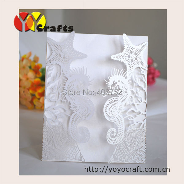 Laser cut wedding invitations seahorse design suitable for summer laser cut wedding invitations seahorse design suitable for summer beach style invitation card in cards invitations from home garden on aliexpress filmwisefo