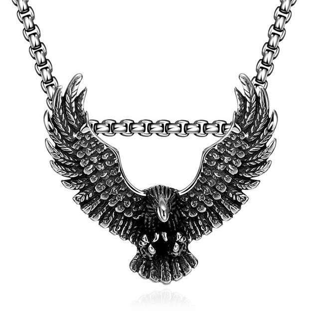 Top quality 316l stainless steel eagle pendant necklace classic top quality 316l stainless steel eagle pendant necklace classic domineering men jewelry retro style chain length aloadofball Gallery