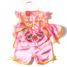 Bellyband Three-piece Suit Baby Clothing Chinese Tang Style Girl Set Summer Baby Girls Clothing Suit New Born Baby Set Girl