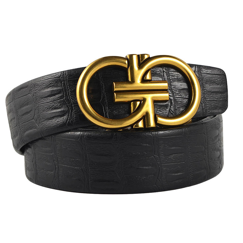 db8e31a7cb9 Luxury Designer Double G Belts Men High Quality R Leather Women Waist Strap  GG Belt for Jeans GG Buckle H Belt Waistband-in Men s Belts from Apparel ...