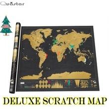 Мунди rascar mapa делюкс скреста царапинам мира x горячий творческий карта