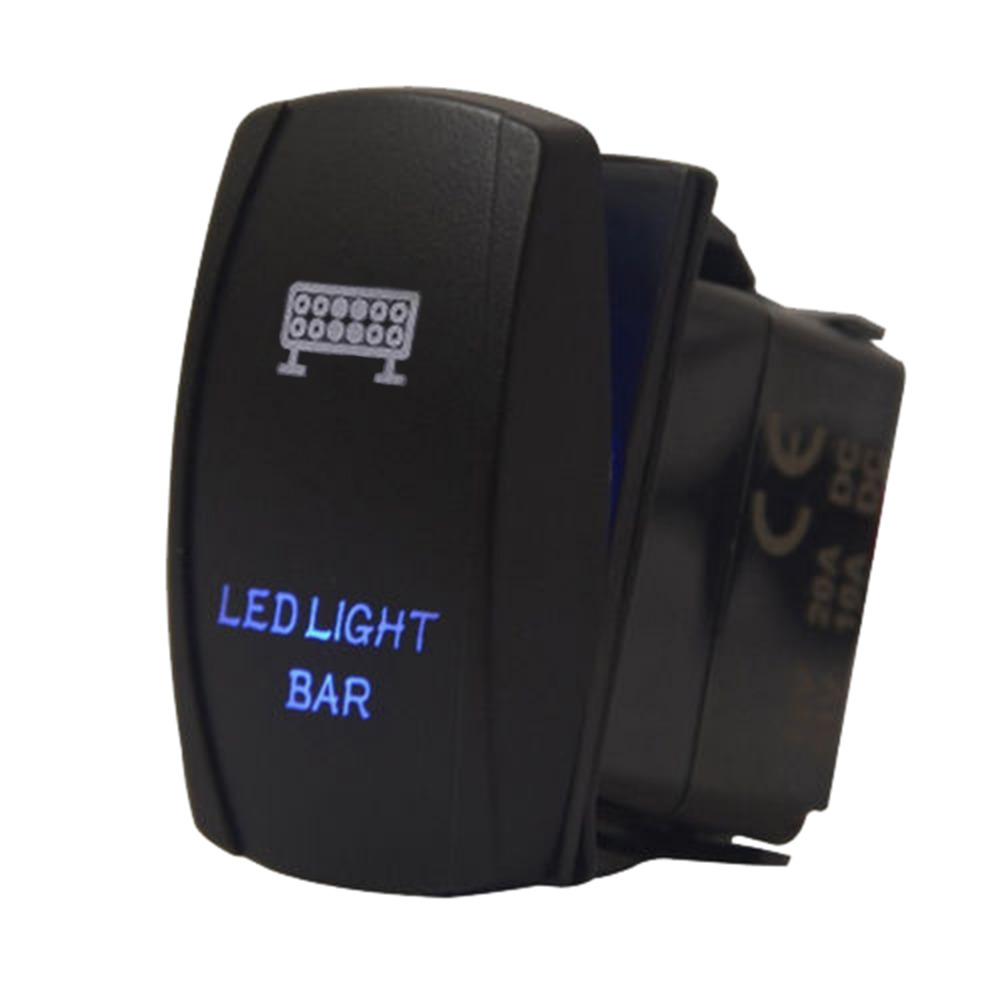 Us 4 32 13 Off 1pc 12v 20a Car Auto Rocker Switch Spst Push Button Switch Two Led Light Bar Blue Car Auto Accessories In Car Switches Relays From