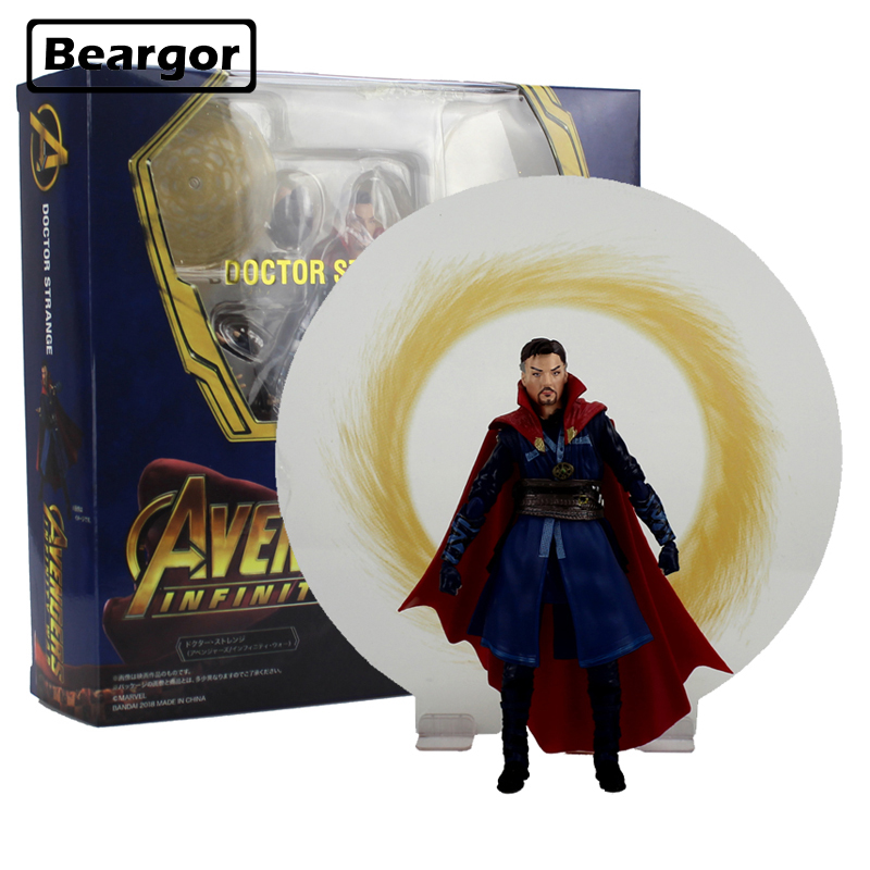 6 The Avengers Super Hero Doctor Strange SHF Moveable ver Boxed 15cm PVC Anime Action Figure Collection Model Doll Toys Gift the avengers egg attack iron man patriot a i m ver super hero pvc ironman action figure collection model toy gift 18cm
