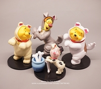 Disney Winnie the Pooh 4pcs/set 8 13cm Action Figure Anime Decoration Collection Figurine mini doll Toy model for children gift