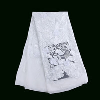 Italian Style Fashion Wedding Embroidered Net Lace White 3d Flower French Tulle Lace Fabric X123 1