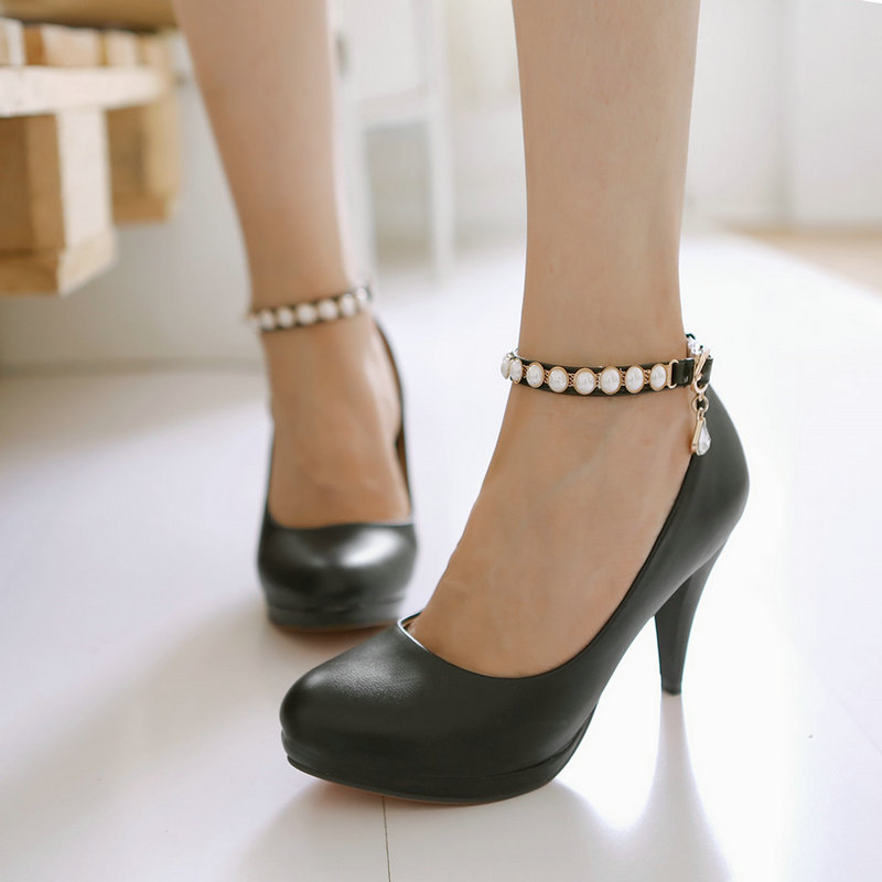 Compare Prices on White Pearl Ankle Strap High Heel Shoes- Online ...