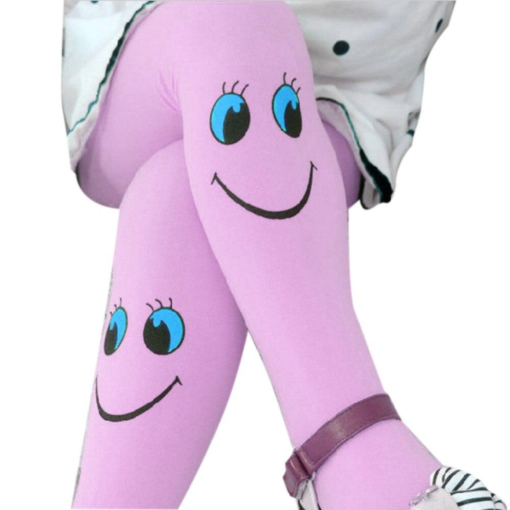 New Hot Baby Kids Girls Tights Pantyhose Stockings Hot Cartoon Cute Smile Pattern Soft Velvet Ballet Lovely Stocking