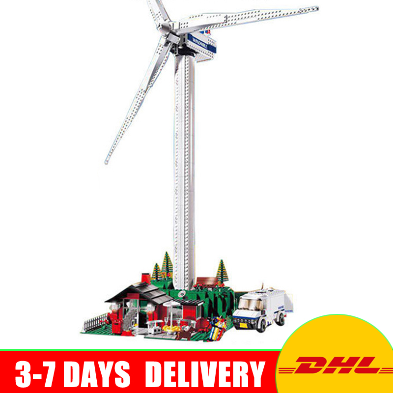 Lepin 37001 Creative Series The Vestas Windmill Turbine Set Children Building Blocks Bricks Educational Toys Model Gift 4999 2017 new 10680 2324pcs pirate ship series the slient mary set children educational building blocks model bricks toys gift 71042