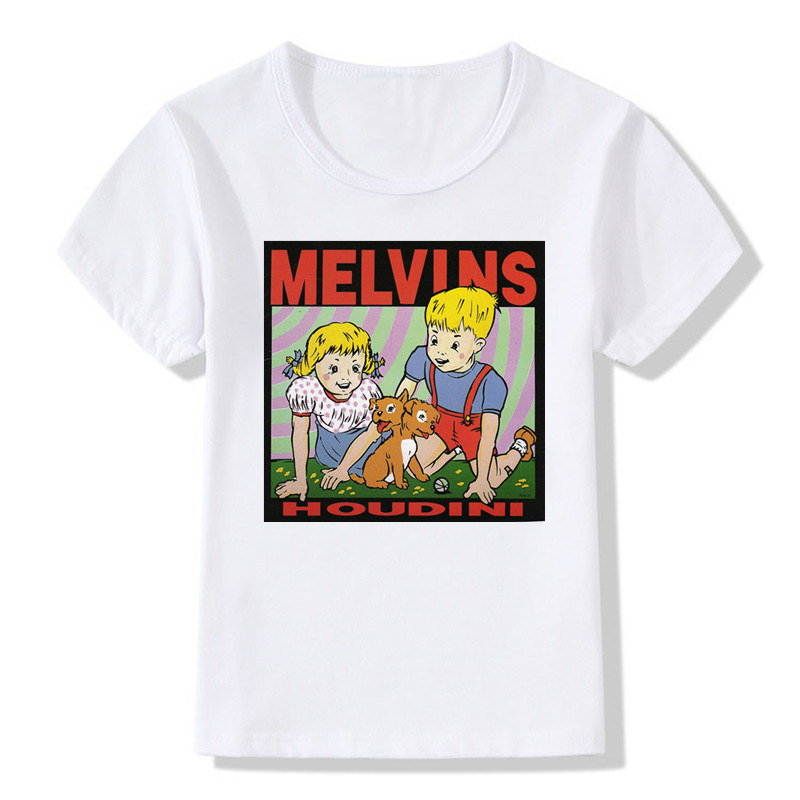 Baby Boys And Girls Print The Melvins Houdini Metal Rock Band T-shirt Children Tops T Shirt Kids Casual Clothes,ooo799