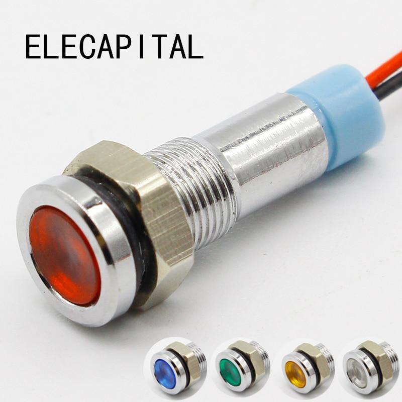 6mm LED Indicator Light 6V 12V 24V 220V Signal Lamp