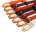 Women Fashion High Quality Genuine Leather Thin Belts Cinturones Mujer Ladies Metal Pin Buckle Straps Girls Waist Accessories