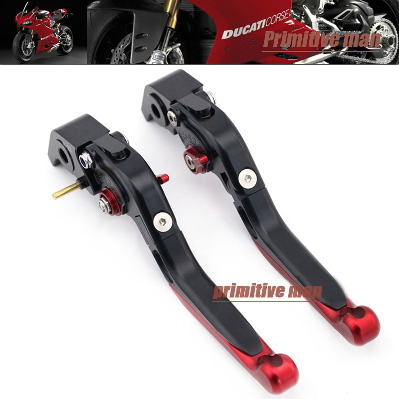ФОТО For DUCATI 848/EVO S4RS 749 999 1098 1198 1199 /899 Panigale Adjustable Folding Extendable Brake Clutch Levers #A
