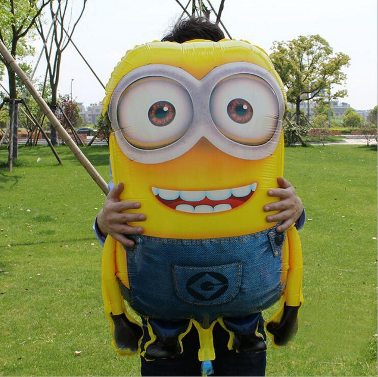 92*65cm Large Size Balloons Cartoon Minions Inflatable Balloon  Birthday Party Decoration balon baby shower