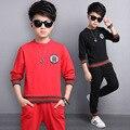 5 6 7 8 9 10 11 12 13 anos meninos roupas definir primavera Camisa de Manga Longa + Calça 2 pcs Conjunto Terno Do Esporte Para O Menino Adolescentes Menino
